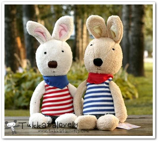 ตุ๊กตากระต่าย le Sucre เสื้อลายขวาง