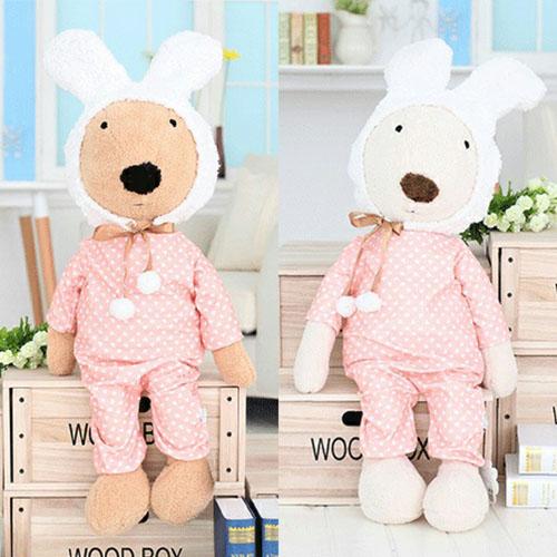 ตุ๊กตากระต่าย le Sucre ชุดนอนลายหัวใจ