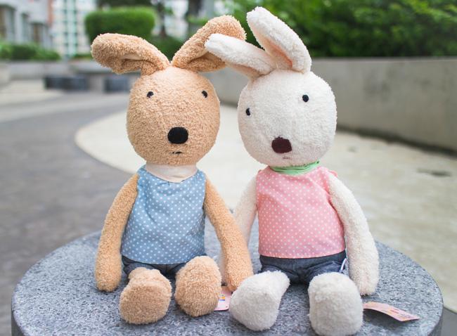 ตุ๊กตากระต่าย le Sucre เสื้อลายจุด
