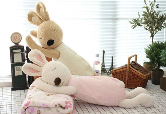 ตุ๊กตากระต่ายหลับ le Sucre 75cm